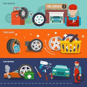 Conjunto de banner de neumáticos
