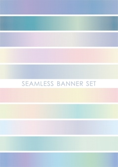 Conjunto de banner transparente repetible horizontal y verticalmente.