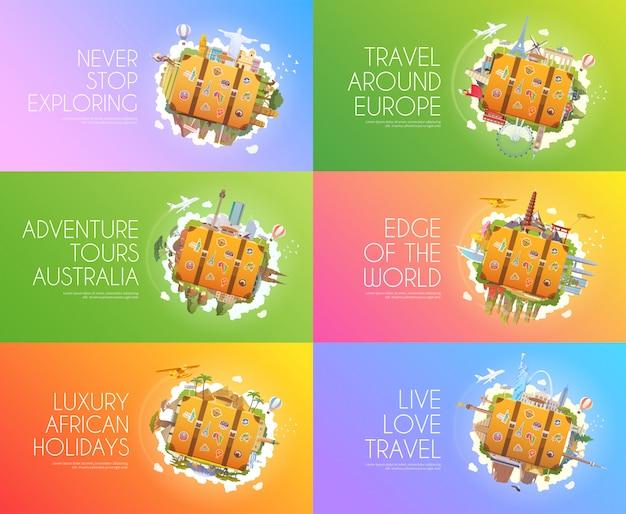Conjunto de banner de viaje.