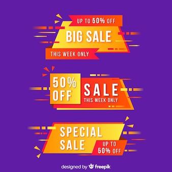 Conjunto de banners abstractos de oferta especial