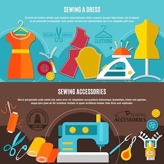 Conjunto de banners de accesorios de costura