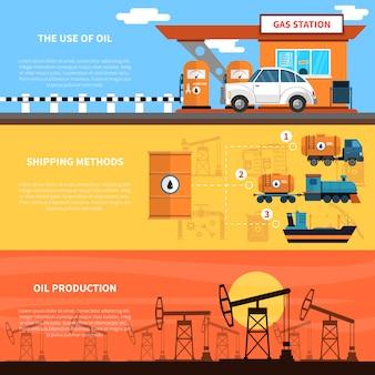 Conjunto de banners de aceite