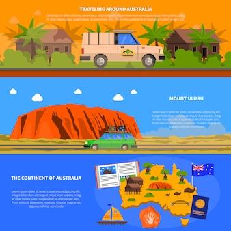 Conjunto de banners de australia
