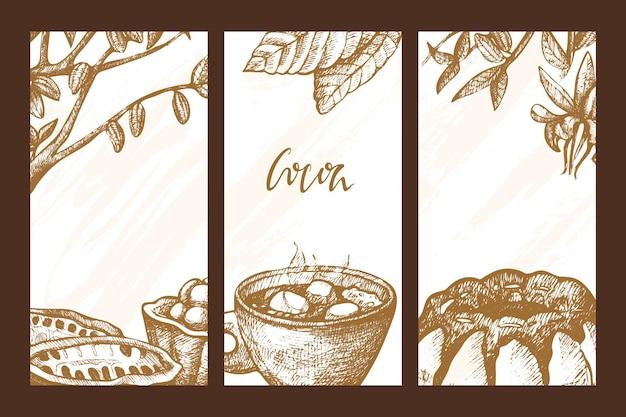 Conjunto de banners de cacao