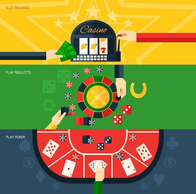 Conjunto de banners de casino