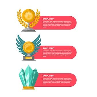Conjunto de banners de ceremonia de premios de campeonato