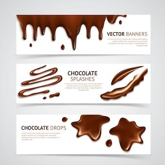 Conjunto de banners de chocolate