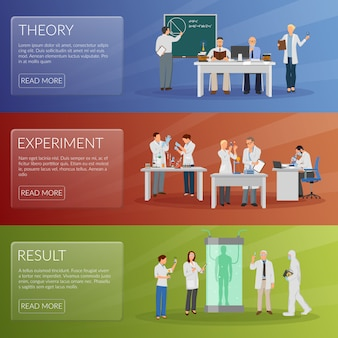 Conjunto de banners científico