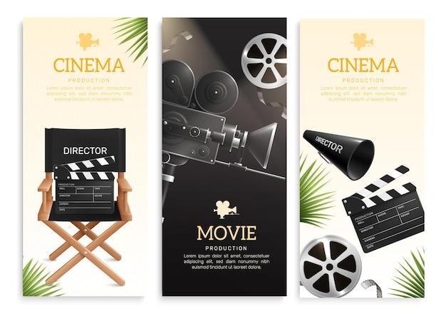 Conjunto de banners de cine