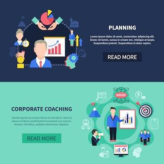 Conjunto de banners de coaching
