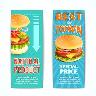 Conjunto de banners de comida rápida