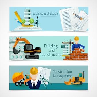 Conjunto de banners de construcción