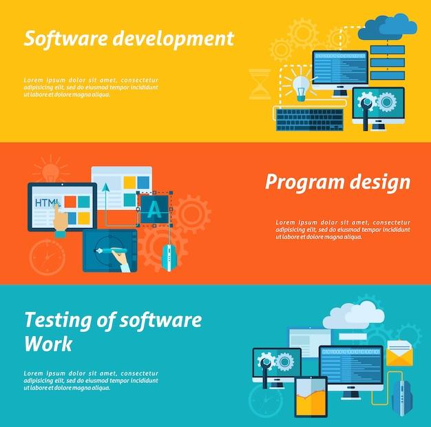 Conjunto de banners de desarrollo de programa