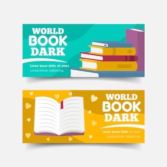 Conjunto de banners del día mundial del libro