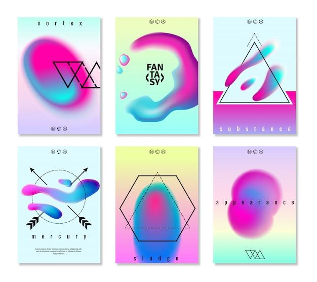 Conjunto de banners de diseño degradado