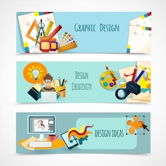 Conjunto de banners de diseño