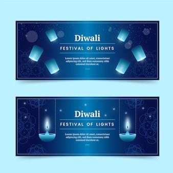 Conjunto de banners de diwali