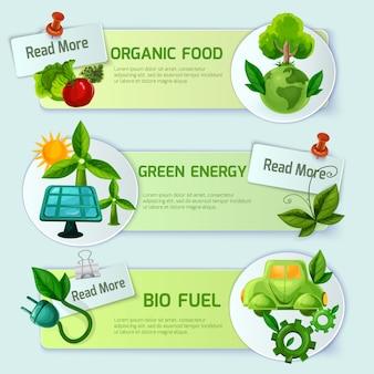 Conjunto de banners de ecología
