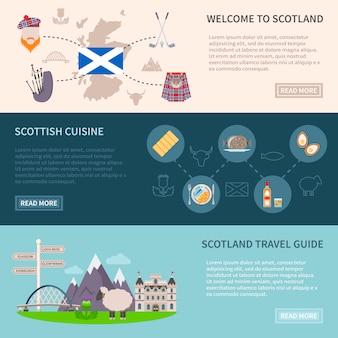 Conjunto de banners de escocia