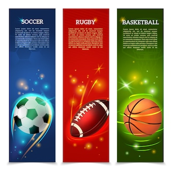 Conjunto de banners de fútbol