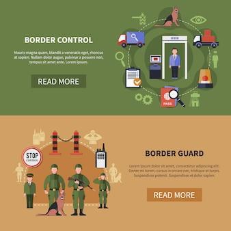Conjunto de banners de la guardia de fronteras