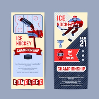 Conjunto de banners de hockey