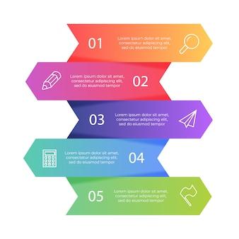 Conjunto de banners infografía colorido