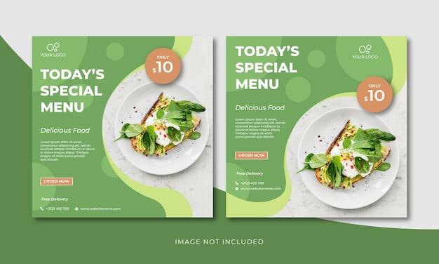 Conjunto de banners de menú especial