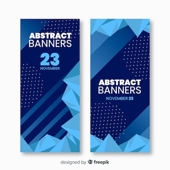 Conjunto de banners modernos con diseño abstracto