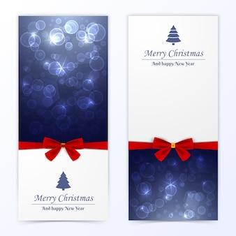 Conjunto de banners de navidad