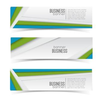 Conjunto de banners de negocios
