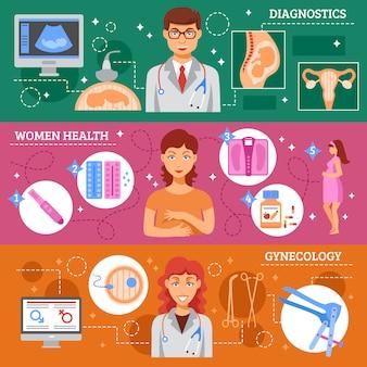 Conjunto de banners de obstetricia