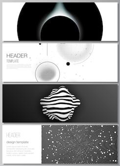 Conjunto de banners oscuros