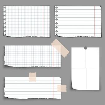 Conjunto de banners de papel