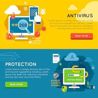 Conjunto de banners de protección de datos
