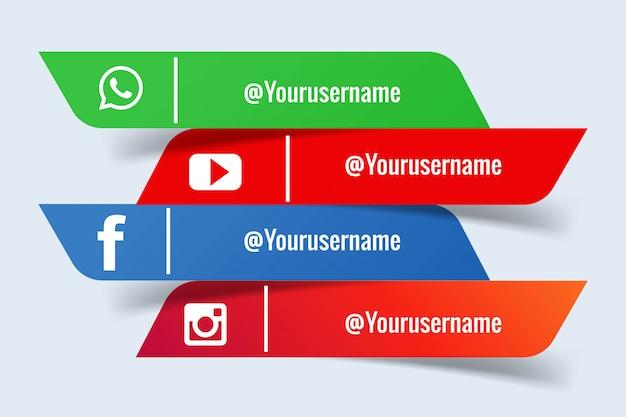Conjunto de banners de redes sociales