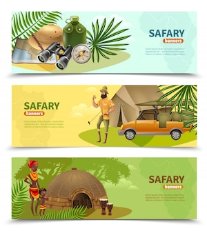 Conjunto de banners de safari