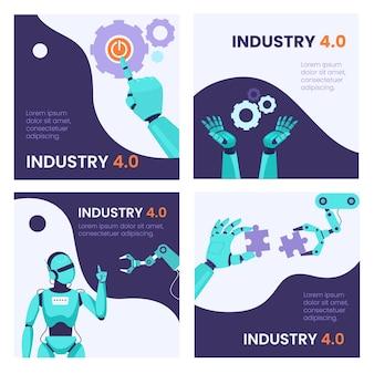 Conjunto de banners de smart industry 4