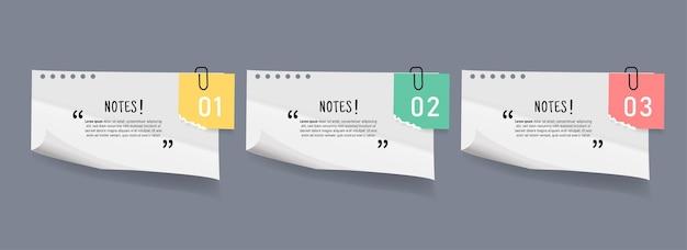 Conjunto de banners de stricker de papeles