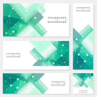 Conjunto de banners de tecnología