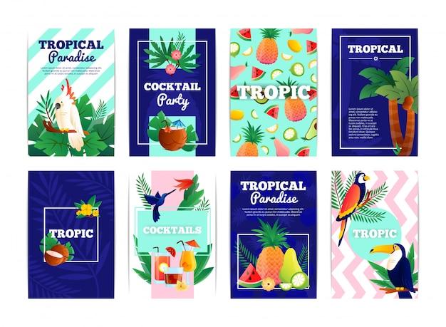 Conjunto de banners tropicales