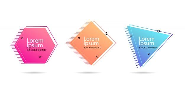 Conjunto de banners vector moderno abstracto