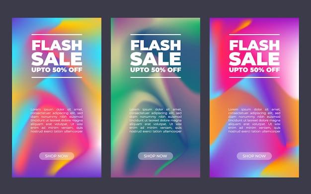 Conjunto de banners de venta geométricos verticales. estilo de texto en rodajas. elemento de diseño gráfico: anuncio, cartel, folleto, etiqueta, cupón, tarjeta. ilustración vectorial.