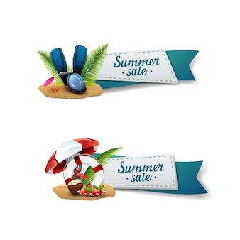 Conjunto de banners de venta de verano
