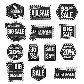 Conjunto de banners de venta