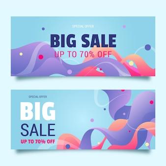 Conjunto de banners de ventas abstractas