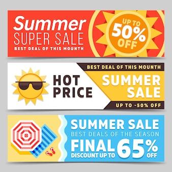 Conjunto de banners de verano super venta