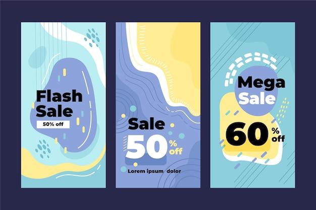 Conjunto de banners verticales de venta flash.