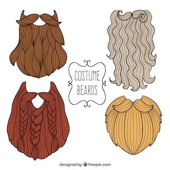 Conjunto barba de vestuario