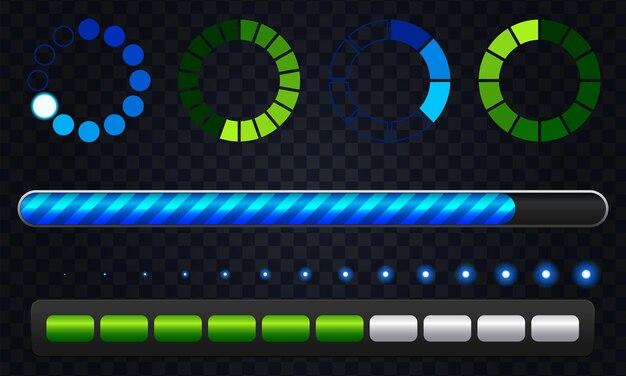 Conjunto de barra de carga colorida
